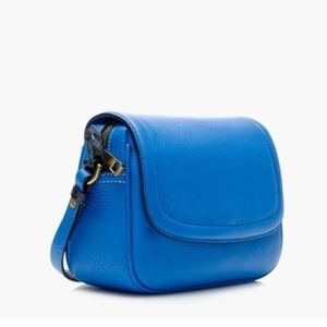 J. Crew Signet flap bag in Italian leather